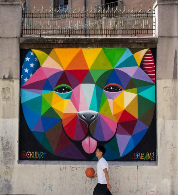 Okuda final - MurosTabacalera by Guillermo de la Madrid - Madrid Street Art Project